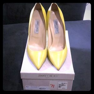 NIB Kid Acid Yellow Jimmy Choo pumps
